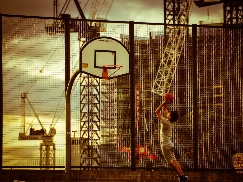 Hoops in Prince Alfred Park - Sydney