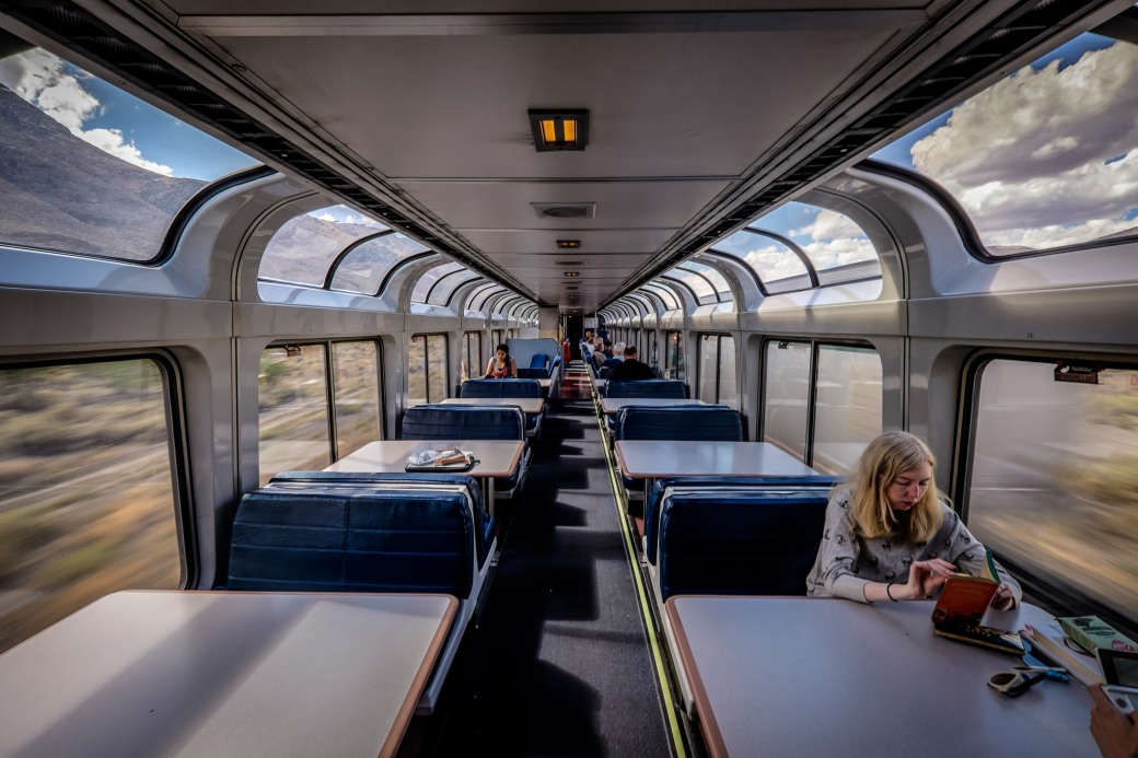 Observation car of the California Zephyr