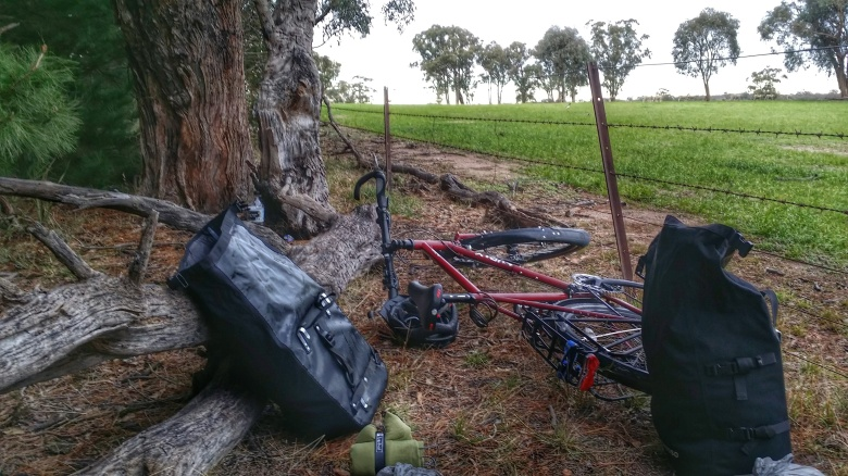 Stealth camping spot hidden behind the soccer fields at Marulan.
